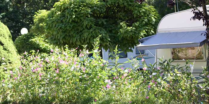 Emplacement caravan  du Camping les Portes de Trièves